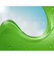 abstract background with water drops and sky vector image vector image