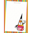 colorful pencil on white paper vector image