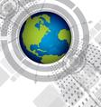 global digital background design vector image vector image