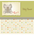 baby shower card with elephant vector image