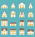big set of architecture vector image