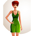 Full-length portrait of a gorgeous red-haired sexy vector image