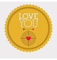 love you card design vector image