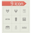 Office people icon set vector image