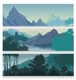 Picturesque Landscape Horizontal Banners vector image