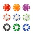 poker chips set vector image
