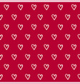 seamless pattern with hand draw hearts vector image
