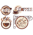 Set of coffee labels for your design vector image