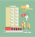 summer travel or holiday vacation hotel at vector image
