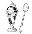 doodle desserts cupcake cookie icecream cone vector image