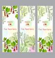 herbal tea collection five-flavor berry banner vector image