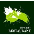 Wine grunge background vector image vector image
