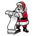 santa claud hold the letter vector image vector image