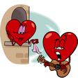 heart love song cartoon vector image vector image