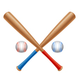 Baseball items vector image vector image
