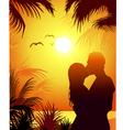 Romantic Couple On Beach vector image