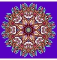 violet colour mandala vector image