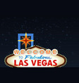 Night Las Vegas Sign vector image