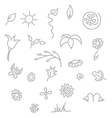 Seamless floral spring doodle pattern vector image