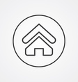 Home outline symbol dark on white background logo vector image