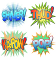 Comic Book Exclamations vector image