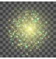 Glow light effect Gold explosion vector image