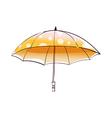 A view of umbrella vector image