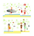 beach holidays in flat style vector image