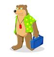 Bear In Beach Shirt vector image