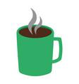 colorful hot chocolate mug icon vector image