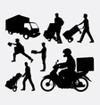 Delivery activity silhouette vector image