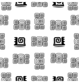 Ethnic Element Seamless Pattern Black and White vector image