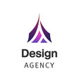 letter a company logo design template triangle vector image