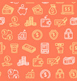 money finance symbols and signs pattern background vector image