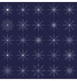 Ornate elegance snowflakes set for Christmas vector image