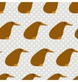 Seamless pattern with cute cartoon kiwi on grey vector image