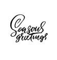 seasons greetings handwritten modern brush vector image