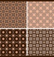 set of seamless patterns in trendy mono line style vector image