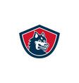 Siberian Husky Dog Head Shield Retro vector image