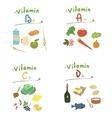 vitamins set vector image