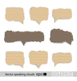 Paper style speech bubbles for the text vector image vector image