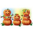 Happy Pumpkin Family vector image vector image