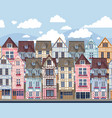 old town seamless border vector image