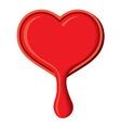 Heart leaking vector image