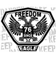 eagle freedom tshirt design vector image