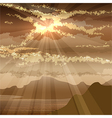 The sunset in the gulf vector image vector image