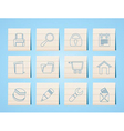 website and computer icons vector image vector image