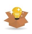 idea design bulb icon solution concept vector image