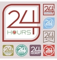 Service and support sign 24 hours a day vector image vector image