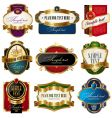 Collection of golden ornate labels vector image